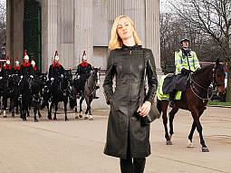 Higgs Leathers New picture!  Felicity (side strapped ladies Black Leather coats)